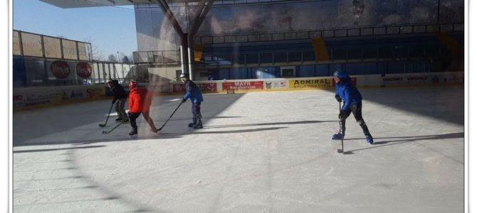 Die 5. und 6. Klassen beim Schlittschuhlaufen