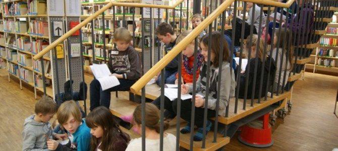 Lesenacht der 4. Klassen in der Stadtbibliothek