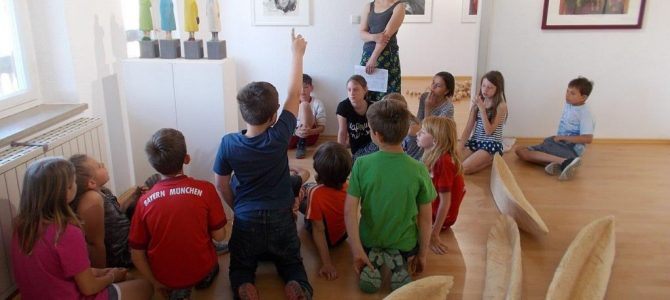 Galeriebesuch der Neubeurer Grundschüler